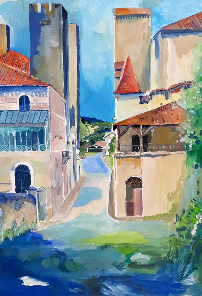 Rue derrière le chateau de Barbaste