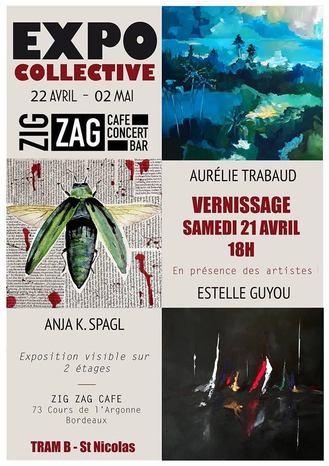Affiche exposition au zig zag café