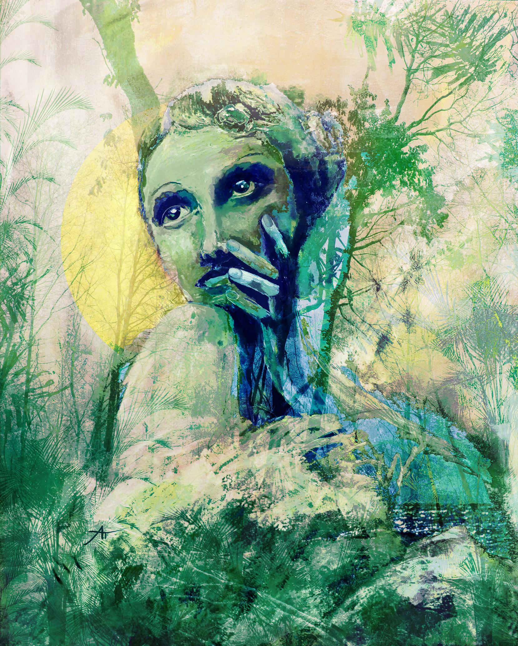 Aurélie Trabaud - Marlène- 70 x50 cm