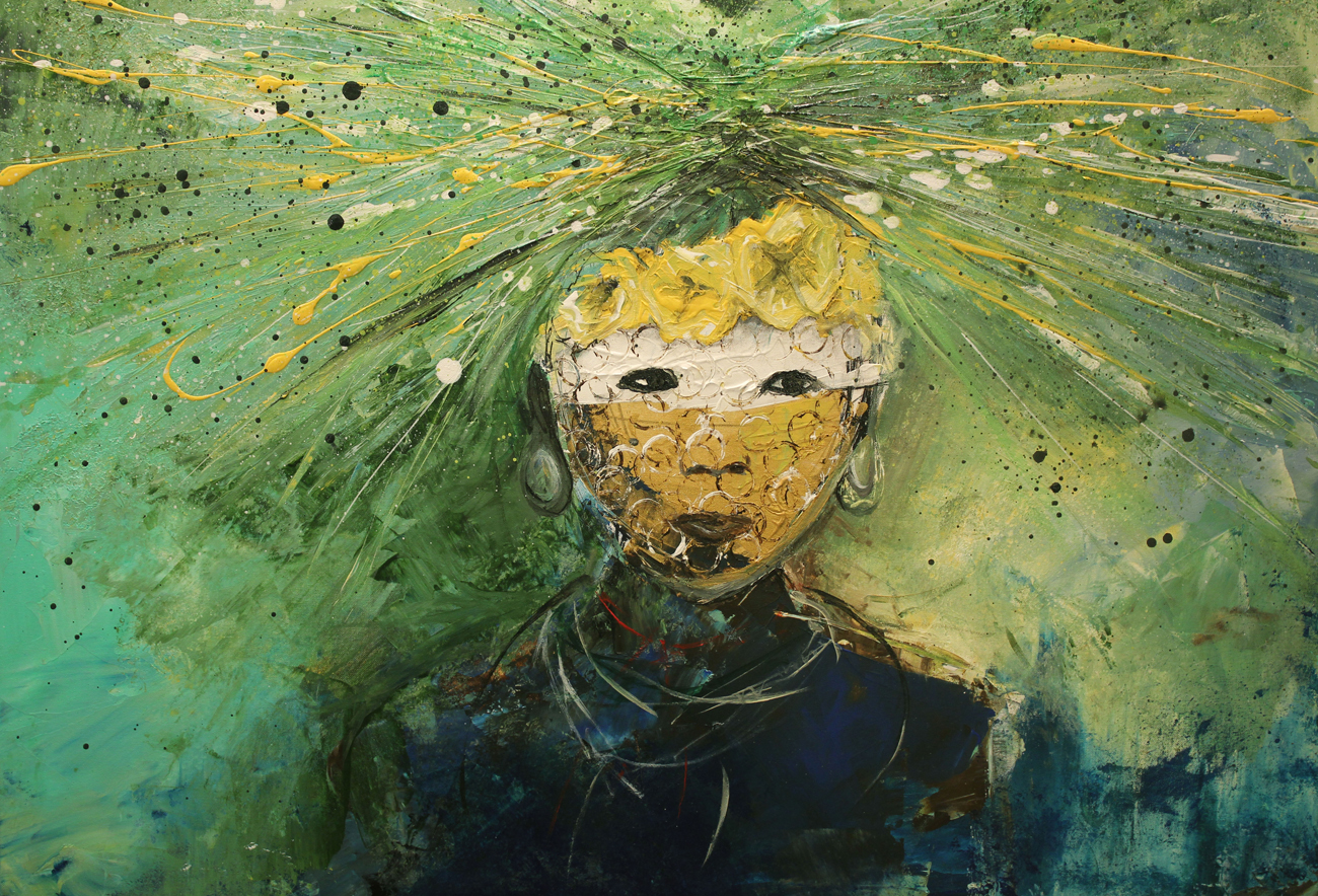 acrylic green child- L