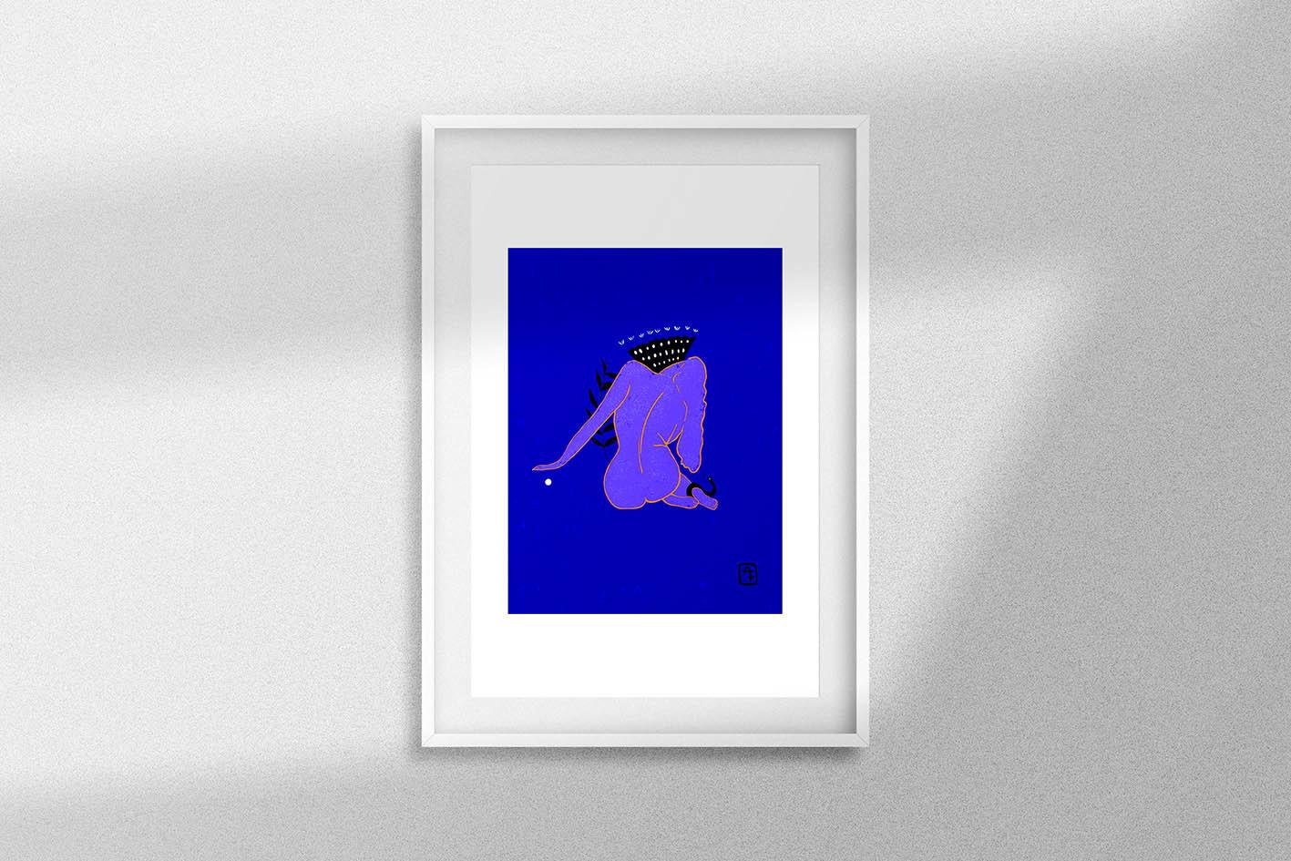 ZOé couleur bleue