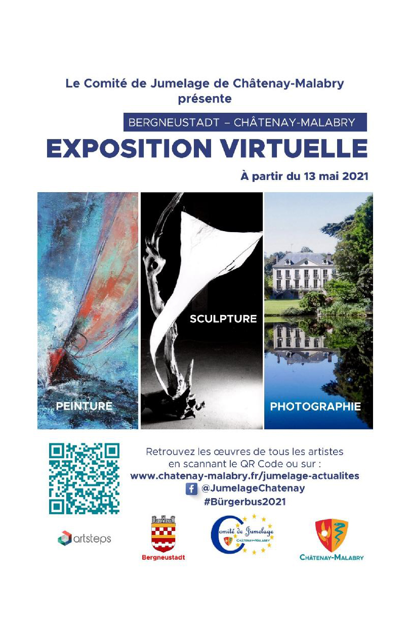 Affiche exposition jumelée chatenay